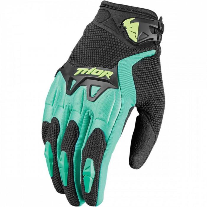 Manusi motocross dame Thor S7W Spectrum, negru/turcoaz XL Cod Produs: MX_NEW 33310134PE foto mare