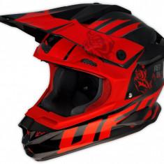 Casca motocross Ufo Interceptor Red Demon, fibra de carbon, negru/rosu, M Cod Produs: MX_NEW HE029M