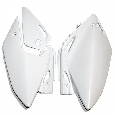 Laterale spate Honda CRF450X 2005-10, alb Cod Produs: MX_NEW 05200314PE foto
