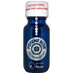 POTENT BLUE, POPPERS, XXX STRONG AROMA, STICLA MARE, PRODUS ORIGINAL, 22ML - Stimulente sexuale, Afrodisiace
