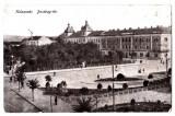 Cluj Kolozsvar piata Bocskay  vazuta de la Teatrul National ,circulata in 1917, Cluj Napoca, Printata