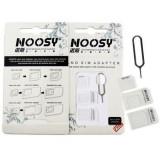 Set adaptor nano-sim, micro-sim cheita iphone, culoare alb sau negru, Oukitel