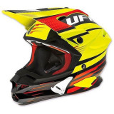 Casca motocross Ufo Interceptor Enemy, fibra de carbon, negru/galben, L Cod Produs: MX_NEW HE023L