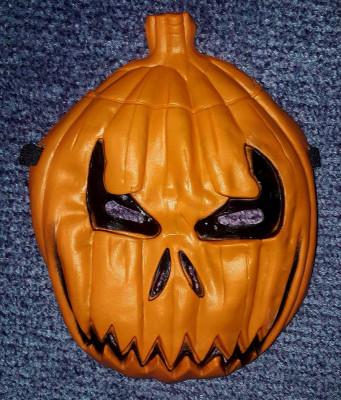 Masca Halloween forma de bostan pentru copii foto
