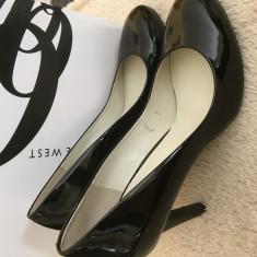 Pantofi stiletto, 39.5, Negru, Cu toc, Nine West