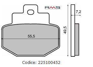 Placute frana (Kevlar) echivalent MCB727 Cod Produs: MX_NEW 225100451RM foto mare