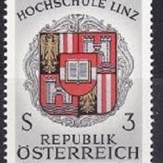 AUSTRIA 1966 – STEMA ORAS LINZ, timbru nestampilat UN137