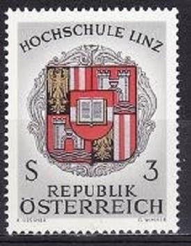 AUSTRIA 1966 – STEMA ORAS LINZ, timbru nestampilat UN137 foto