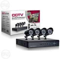 Kit Supraveghere Cctv Sistem Dvr 4 Camere Exterior Internet Cabluri, Hdmi
