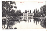 Cluj Kolozsvar Pavilionul de patinaj,lacul din parc ilustrata  circulata 1909, Cluj Napoca, Printata