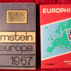 2 cataloage de timbre Europa Zumstein 1967 si Europhilex 1995