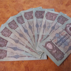 Lot 10 bancnote de 50 Pengo circulate dar in stare buna, Europa