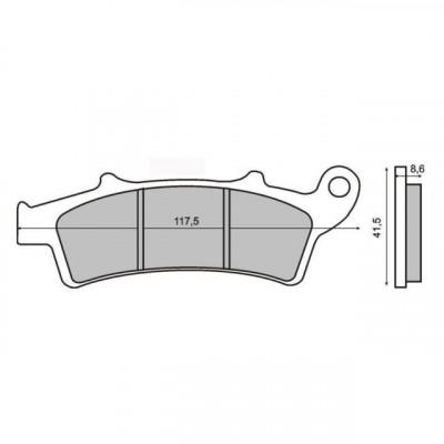 Placute frana spate Malaguti Madison 250 Cod Produs: MX_NEW 225100440RM foto