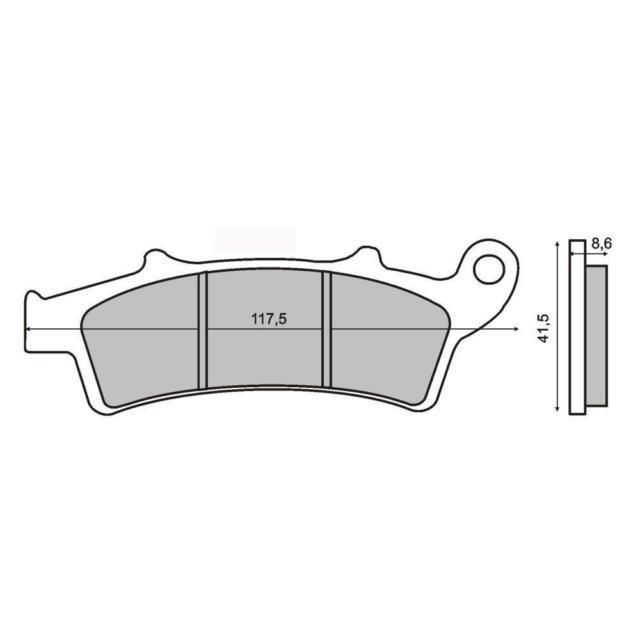 Placute frana spate Malaguti Madison 250 Cod Produs: MX_NEW 225100440RM foto mare