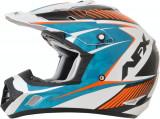 Casca Cross/ATV AFX FX-17 Factor alb perlat albastru portocaliu marime XS Cod Produs: MX_NEW 01104546PE