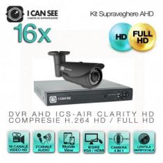 Kit AHD ICS-KU100-16LV, cu 16 camere ICSLV-UHD1000 + DVR ICS-AIR CLARITY HD