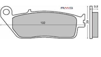Placute frana (Sinter) Kymco Exciting 500 /Honda CN 250 '87-'94 Cod Produs: MX_NEW 225100322RM foto