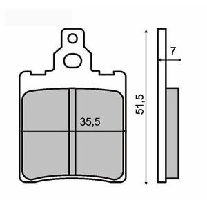 Placute frana Aprilia Tuareg 50/Beta Cod Produs: MX_NEW 225100120RM foto mare