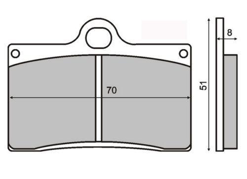 Placute frana Cagiva Mito 125 '92-'05 Cod Produs: MX_NEW 225100520RM foto mare