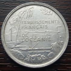 (M128) MONEDA OCEANIA FRANCEZA - 1 FRANC 1949, PROTECTORAT FRANCEZ