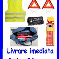 Kit Siguranta -1x Trusa Sanitara  2x Triunghi Ref. 1x Stingator 1x Vesta AL-2628