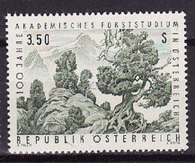 AUSTRIA 1967 – ARBORI, PADURE timbru nestampilat UN138 foto