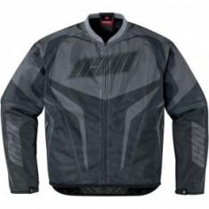 Geaca moto Icon de vara cu protectii culoare negru/gri marime L Cod Produs: MX_NEW 28220565PE - Imbracaminte moto, Geci