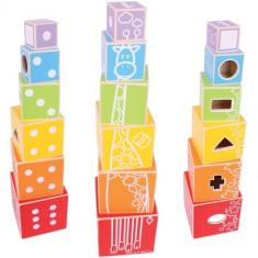 Cuburi Colorate Pastel - Jocuri Logica si inteligenta Bigjigs