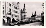 Cluj Kolozsvar,palatul Urania strada Horthy Miklos animata,masini de epoca 1940, Circulata, Printata, Cluj Napoca