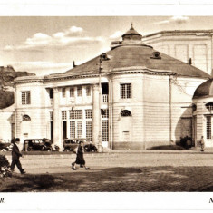 Cluj Kolozsvar, Teatrul de vara, masini de epoca, ilustrata animata 1940 - Carte Postala Transilvania dupa 1918, Necirculata, Printata, Cluj Napoca