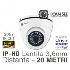 Camera de supraveghere ICSA-IP2400S Dome Anti-Vandal, Rezolutie Full HD ICANSEE