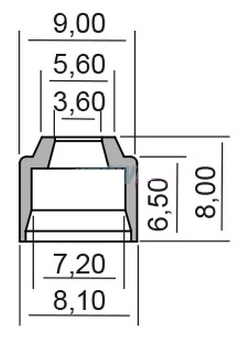 Semering supapa Yamaha FZ1 1000 N 1EC4 RN16H 2012- 2014 Cod Produs: MX_NEW 7349160MA foto mare