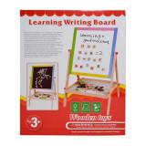 Tablita pentru scris citit, 2 fete alb negru, accesorii incluse, suport lemn