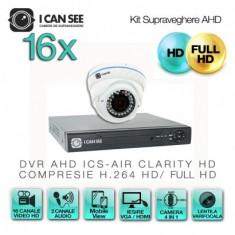 Kit AHD ICS-KU100-16AV, cu 16 camere ICSAV-UHD1000 + DVR ICS-AIR CLARITY HD