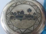 "Pudriera argint vintage ""Egypt Oasis""  -1589"