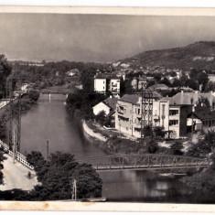 Cluj Kolozsvar Somesul cu podul Elisabeta si Garibaldi, cartierul Donath 1940 - Carte Postala Transilvania dupa 1918, Necirculata, Printata, Cluj Napoca
