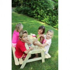 Masa cu Bancute si Lada de Nisip Table Sable - Casuta copii Soulet