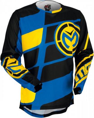 Tricou motocross Moose Racing Softgoods M1 S7 culoare negru/albastru/galben marime L Cod Produs: MX_NEW 29104034PE foto