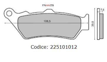 Placute frana (Sinter) Cod Produs: MX_NEW 225101012RM foto