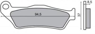 Placute frana Yamaha Versity 300 '03-'06 Cod Produs: MX_NEW 225100570RM foto