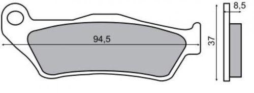 Placute frana Yamaha Versity 300 '03-'06 Cod Produs: MX_NEW 225100570RM foto mare