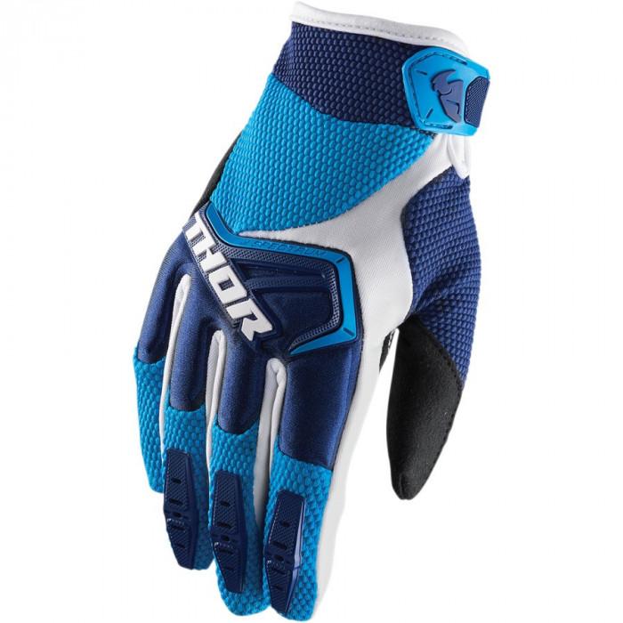 Manusi motocross Thor S8 Spectrum, albastru/alb, M Cod Produs: MX_NEW 33304652PE