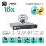 Kit AHD ICS-KU100-16P, cu 16 camere ICSP-UHD1000 + DVR ICS-AIR CLARITY HD
