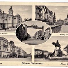 Cluj Kolozsvar ilustrata multipla,colaj,mozaic,1940
