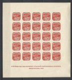 Cehoslovacia.1937 Expozitia filatelica BRATISLAVA-Bl.  PC.242, Nestampilat