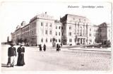 Cluj Kolozsvar Palatul de Justitie ilustrata animata circulata in 1918, Cluj Napoca, Fotografie