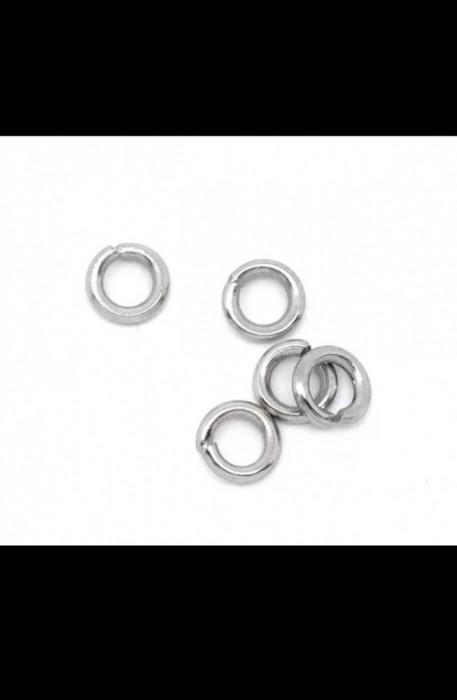 Zale,veriga conector, 4mm, otel inoxidabil, handmade, 25BUC/SET, BB10268