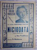 PARTITURA MUZICALA VECHE - PARFUM DE EPOCA - NICIODATA - ION VASILESCU