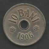 ROMANIA  10 BANI 1906 ,  litera J - Monetaria Hamburg  [11]  livrare in cartonas, Cupru-Nichel