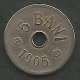ROMANIA  5  BANI  1905   [5]  livrare  in cartonas, Cupru-Nichel